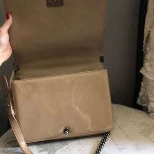 CHANEL Bags - Chanel boy bag beige patent leather